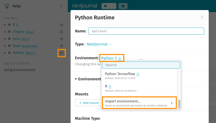Environment Builder - Python – Nextjournal